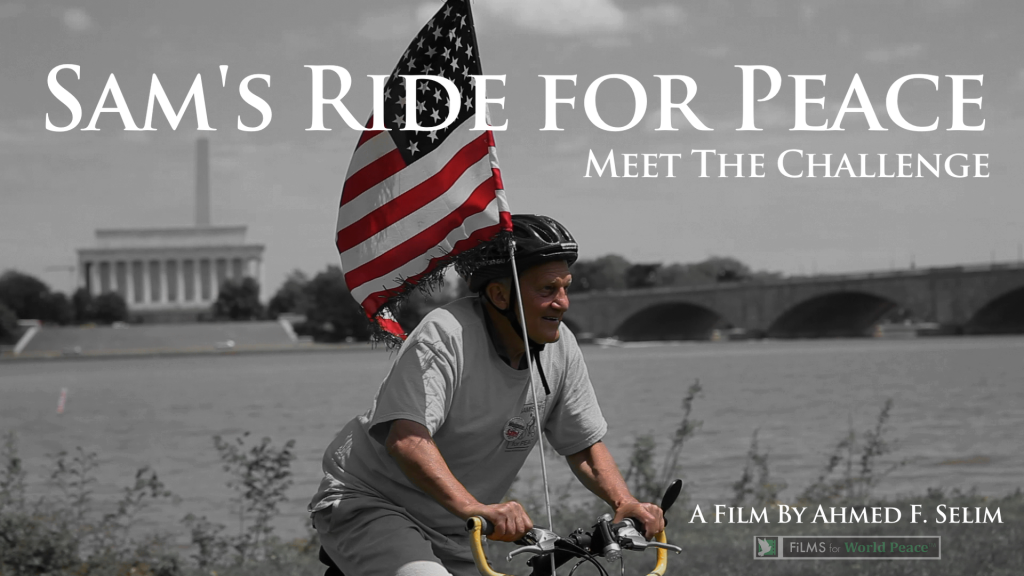 George Ripley arrives in DC on bicycle with his grassroots flag.  He's followed 90 year old World War II Veteran Sam Winstead in Sam's Ride for Peace.  This documentary is inspiring a movement